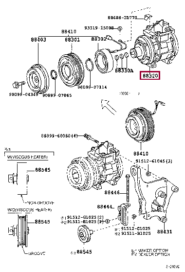 8832060720: COMPRESSOR ASSY, COOLER Тойота