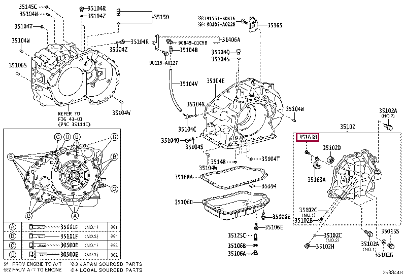 9008014046: SCREW, HEX LOBULAR(FOR TRANSAXLE REAR COVER PLATE) Тойота