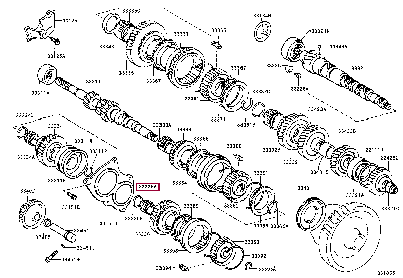 9008036162: BEARING, NEEDLE ROLLER (FOR 5TH GEAR) Тойота