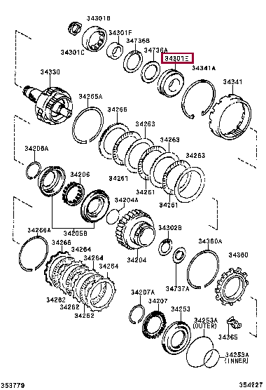 9036943015: BEARING, TAPERED ROLLER (FOR UNDERDRIVE) Тойота
