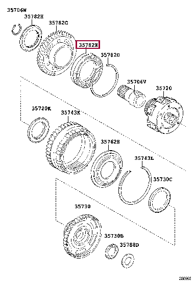 9036972001: BEARING(FOR COUNTER DRIVE GEAR) Тойота