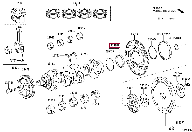 9036978001: BEARING(FOR CRANKSHAFT) Тойота