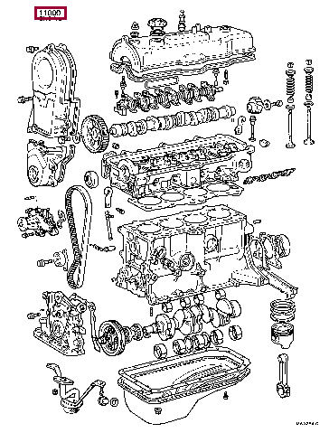 9091901064: ENGINE ASSY, PARTIAL Тойота