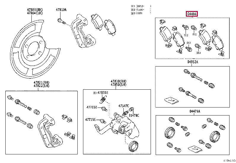 PAD KIT, DISC BRAKE, REAR 04466-05042 (номер toyota 0446605042)