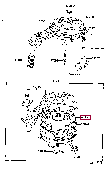 1780111100: ELEMENT SUB-ASSY, AIR CLEANER FILTER Тойота