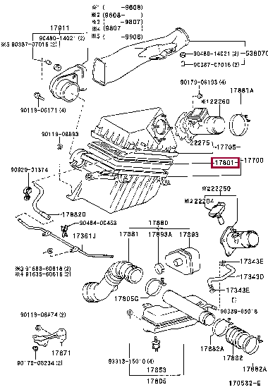 1780135020: ELEMENT SUB-ASSY, AIR CLEANER FILTER Тойота