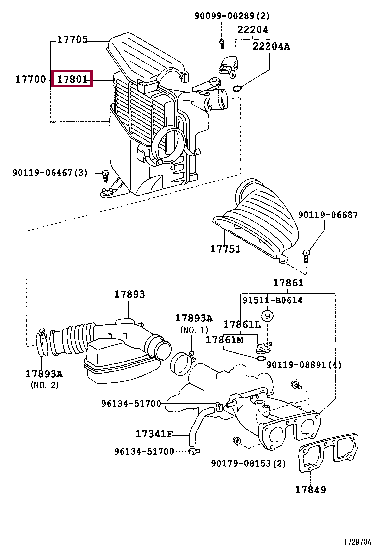 1780146080: ELEMENT SUB-ASSY, AIR CLEANER FILTER Тойота
