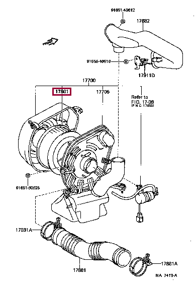 1780170020: ELEMENT SUB-ASSY, AIR CLEANER FILTER Тойота