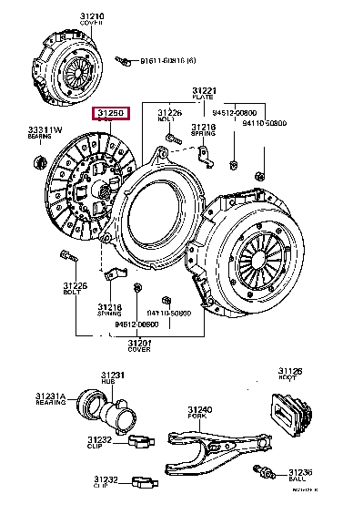 3125020280: DISC ASSY, CLUTCH Тойота