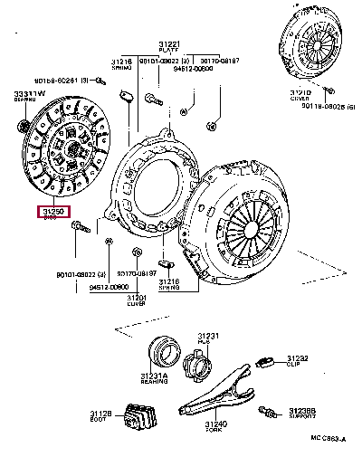 3125025122: DISC ASSY, CLUTCH Тойота