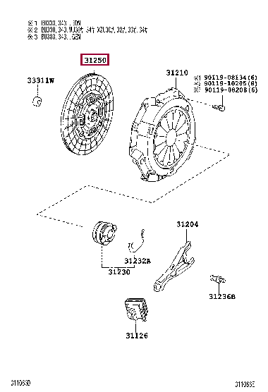 3125037170: DISC ASSY, CLUTCH Тойота