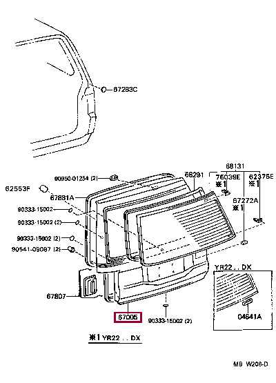 670052J390: PANEL SUB-ASSY, BACK DOOR Тойота