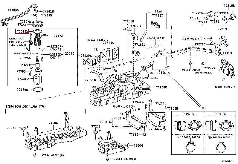 7702460260: PLATE SUB-ASSY, FUEL SUCTION Тойота