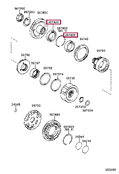 9036959001: BEARING(FOR COUNTER DRIVE GEAR) Тойота
