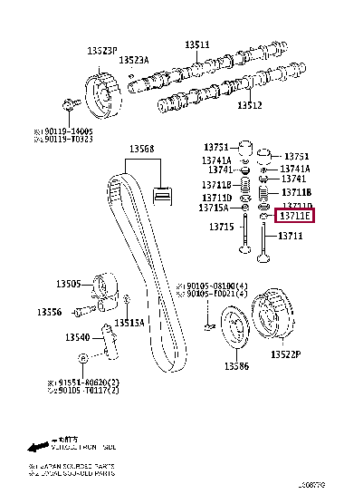 9008031099: SEAL, INTAKE VALVE STEM OIL Тойота